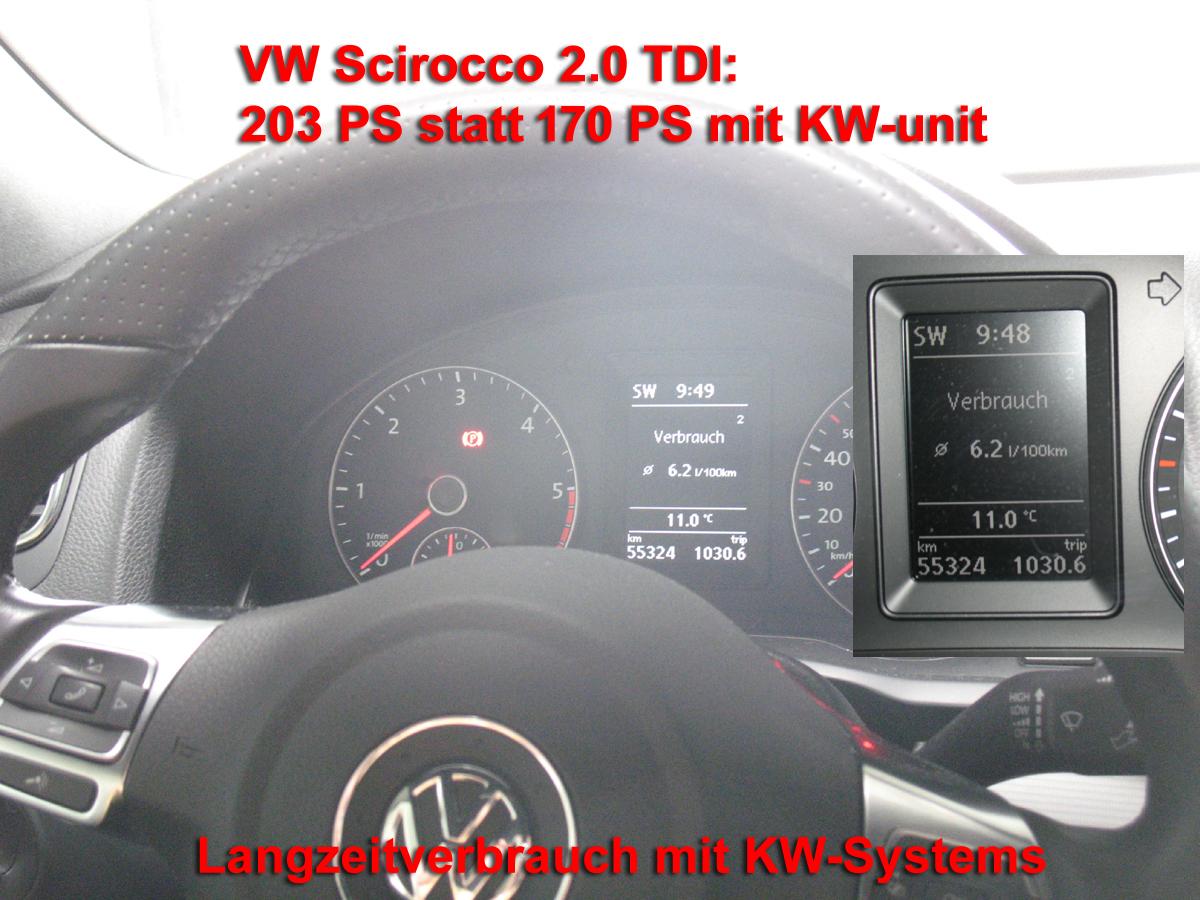 Vw scirocco 2 0 liter tdi kw unit stufe 2