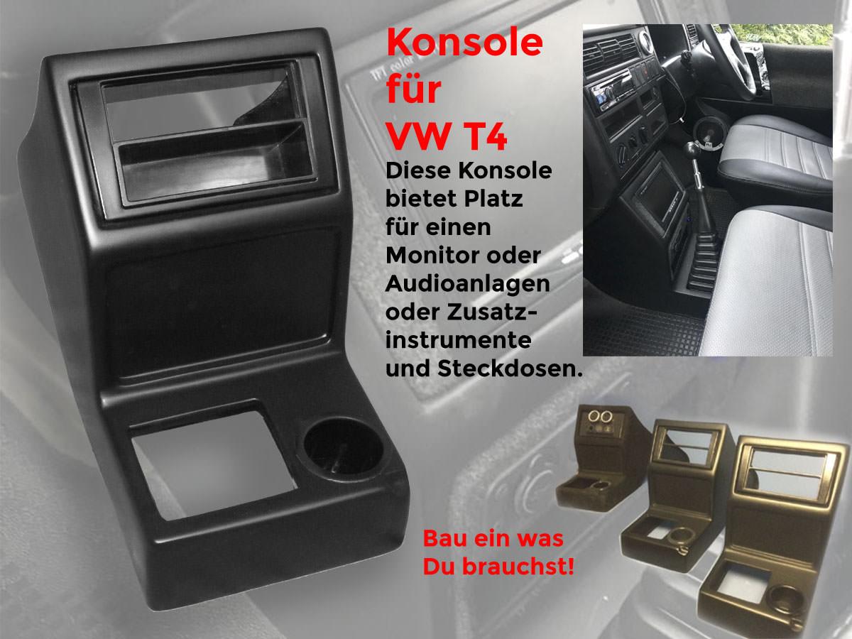Mittelkonsole im VW T4 nachrüsten