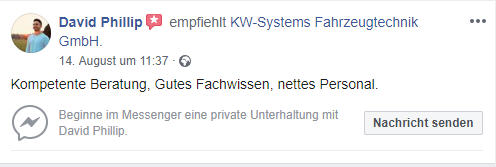 KW-Systems ist Topp